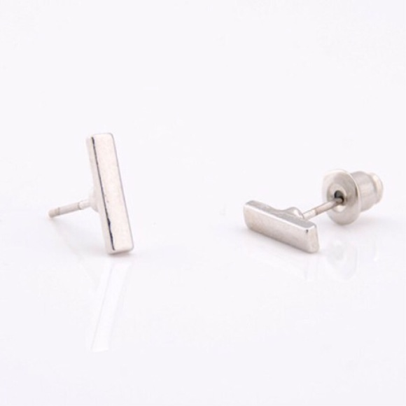 Jewelry - Silver Plated Bar Earrings
